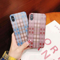 Retro Grid Soft Phone Case for Apple iPhone