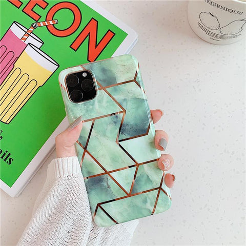 Asymmetric Marble Print Phone Case for Samsung gallery 3