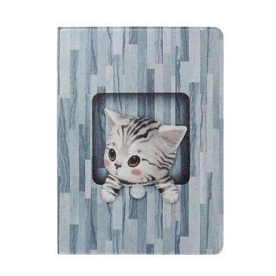 Cute Cat Painted Apple iPad Cover Case