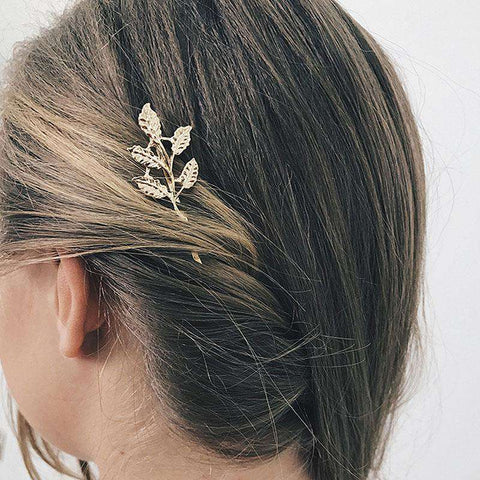 Gold Simple Flower Hair Pin gallery 1