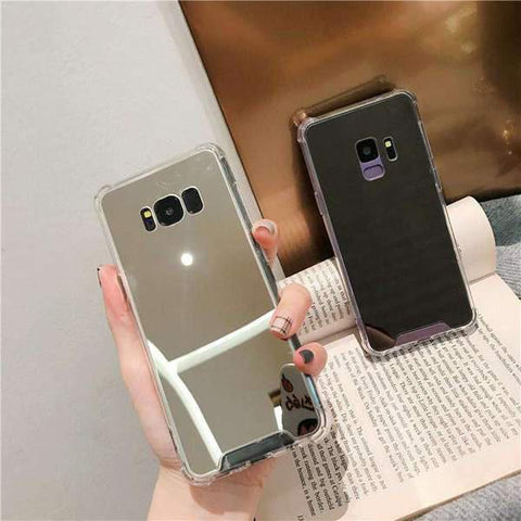 Arcylic Anti-Fall Mirror Phone Case for Samsung gallery 2