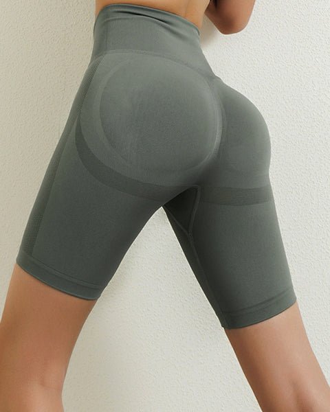 Space Dye Textured Seamless Butt Lifting Sports Shorts gallery 21