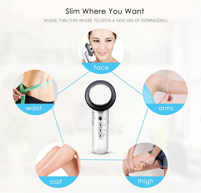 3 in 1 Ultrasonic Infrared Lights Pain Therapy Facial Body Slimming Beauty Machine