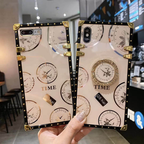 Clock Design Square Phone Case for Samsung with Phone Holder gallery 6