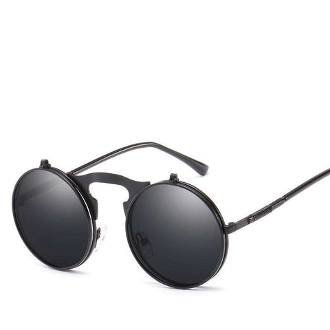 Vintage Dazzle Circle Shape Clamshell Sunglasses gallery 4