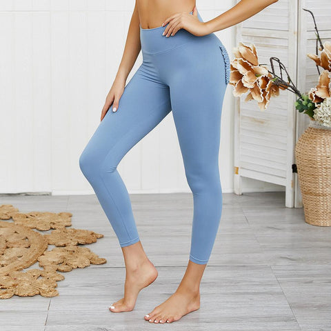10 Colors Hip Lifting Hyper Flexible High-Rise Tummy Control Workout Leggings gallery 30