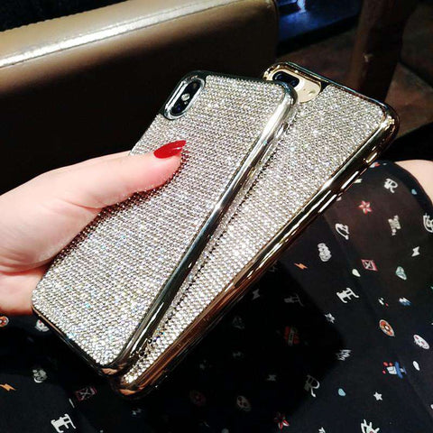 Luxury Shining Little Diamonds Soft iPhone Case