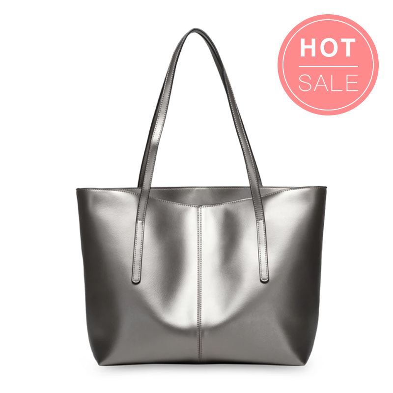 Hot Sale Silver Leather Tote Bag