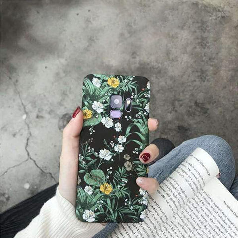 Chic Emboss Floral Print Phone Case for Samsung gallery 2