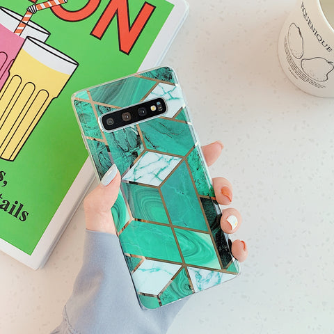 Marble Electroplated Detail Phone Case for Samsung gallery 4