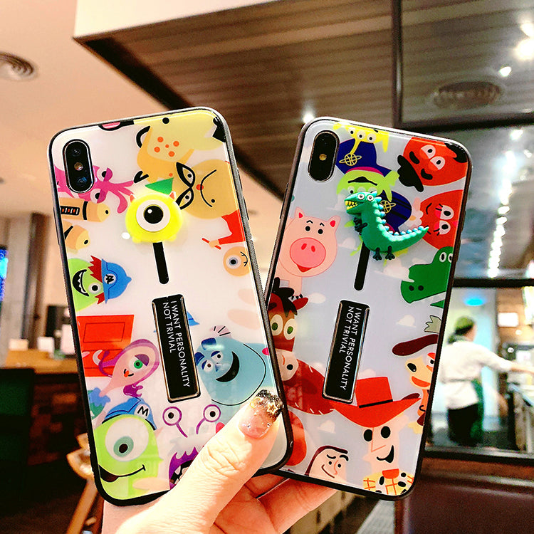 Toys Print With Wrist Strap And Phone Stand Phone Case For All Apple Phone - Iphone 7 Plus/8 Plus