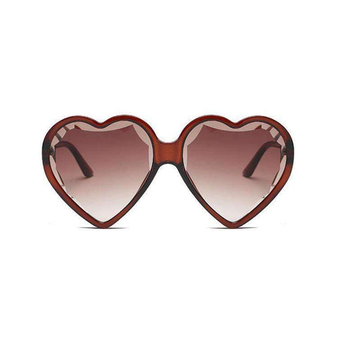 Candy Color Ombre Heart Shape Lens Sunglasses gallery 2