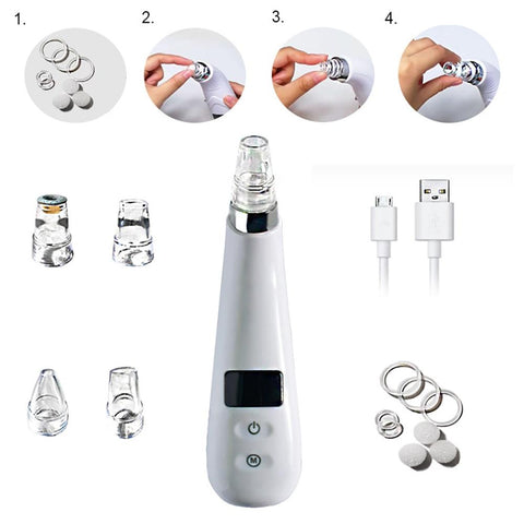 Electric Blackhead Remover Skin Beauty Suction Acne Removal Instrument gallery 4
