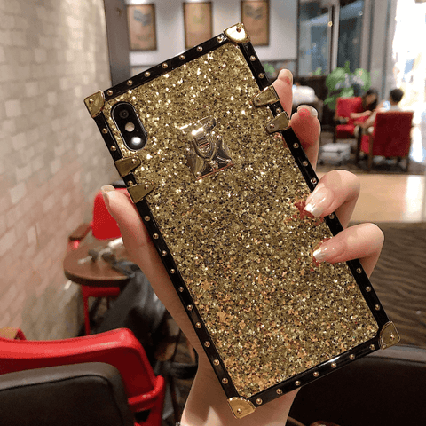 Sparkle Sequins Detail Square Phone Case for Samsung gallery 8