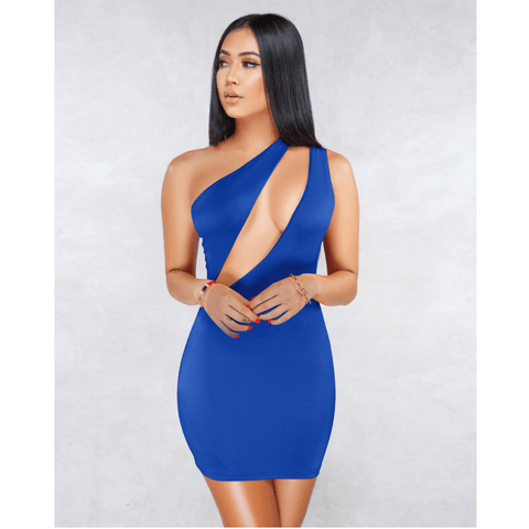 Sexy One Shoulder Bust Cut Out Bodycon Dress gallery 10