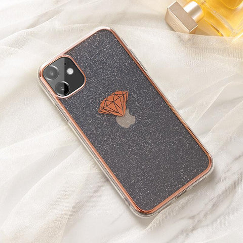 Cute Electroplate Heart/Diamond Pattern Phone Case for Samsung gallery 6
