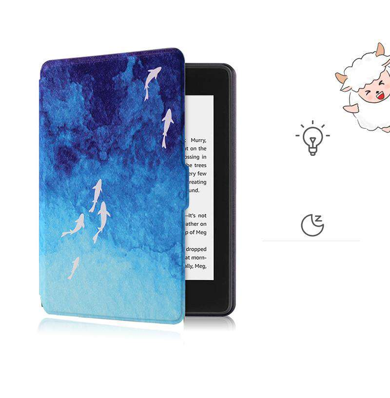 Literary Gradient Blue Protective Cover Case For Amazon