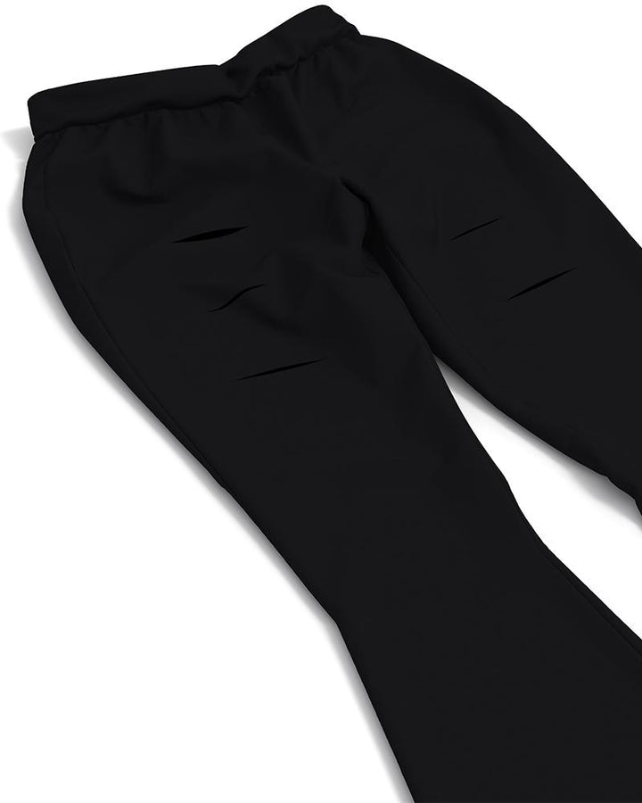 Solid Cut Out High Waist Flare Pants gallery 16