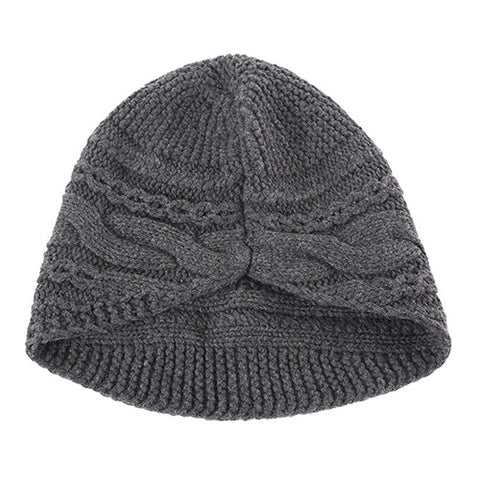 Solid Cable Knit Wool Beanie Hat gallery 3