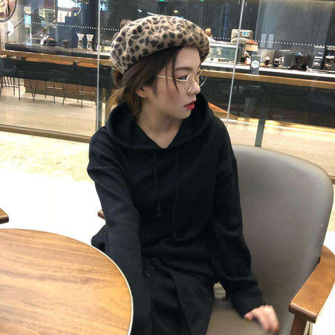 Leopard Print Beret for Winter gallery 2