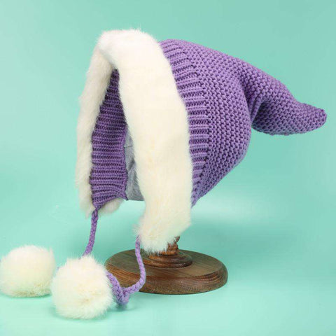 Women's Winter Cute Thick Conical Ear hat gallery 9