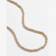 Small Gold Bead Strand Necklace