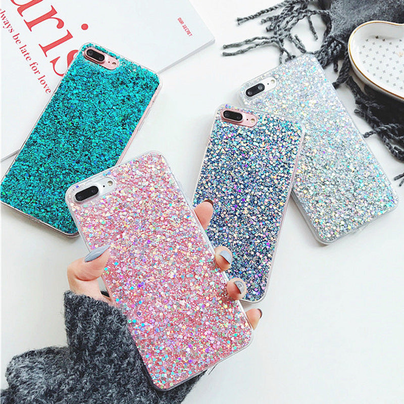 Glittering Sequins Decorated iPhone Case