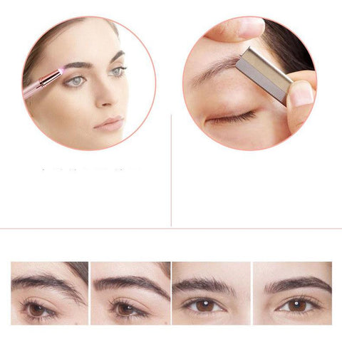 Eyebrow Hair Trimmers with LED Light gallery 7