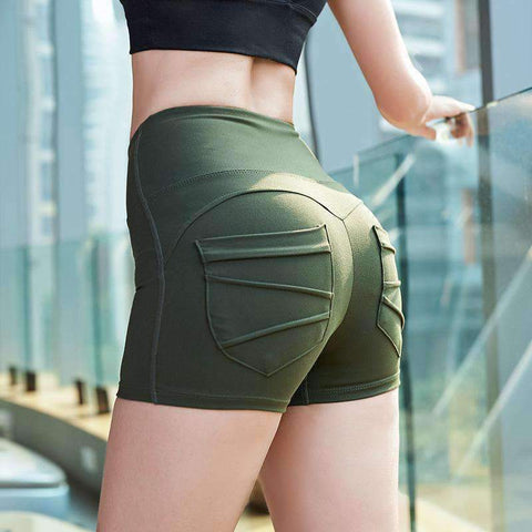 Breathable High Elasticity Fitness Sports Yoga Shorts gallery 1