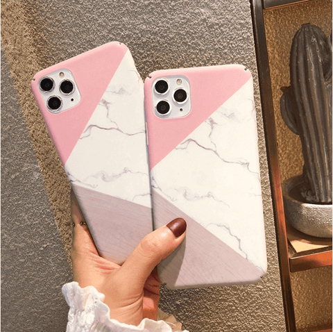 Simple Joint Color Marble Style iPhone Case