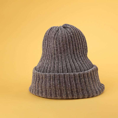 Winter Thick Soft Chenille Knitted Woolen Hat gallery 7