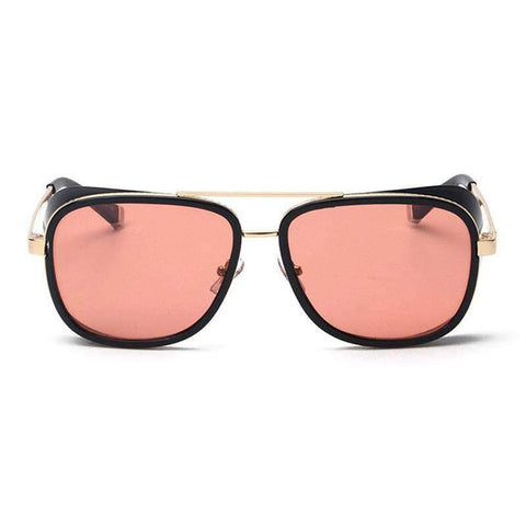 Chic Square Resin Red Lens Sunglasses gallery 7