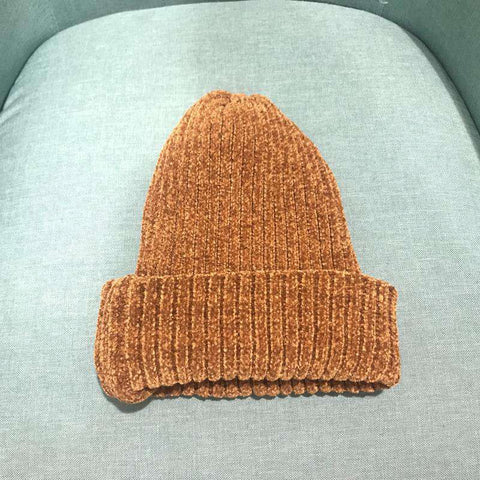 Winter Thick Soft Chenille Knitted Woolen Hat gallery 9