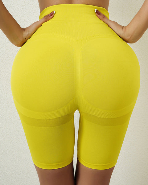 Space Dye Textured Seamless Butt Lifting Sports Shorts gallery 9