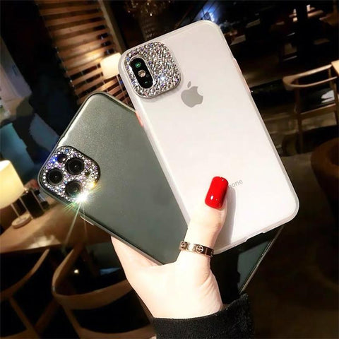 Luxury Rhinestone Frosted Clear Phone Case for Samsung gallery 1