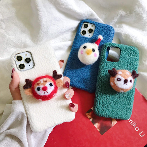 Cute Cartoon Christmas Item Decorate iPhone Case