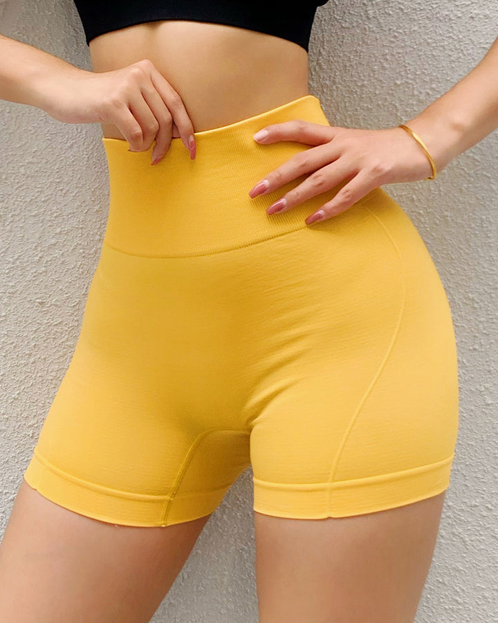 Letter Print Wide Waistband Stitch Trim Sports Shorts gallery 2