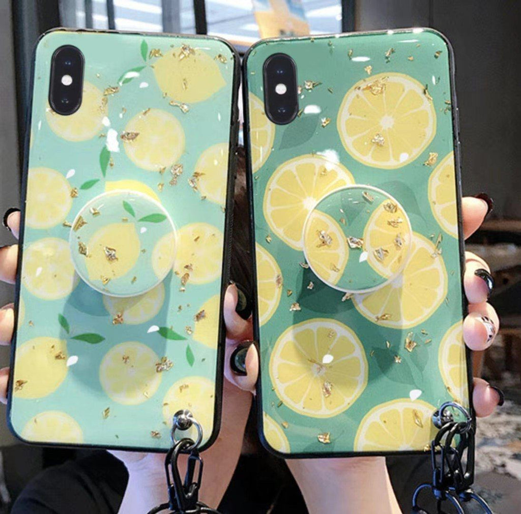 Fresh Lemon Phone Case with Stand for All iPhone