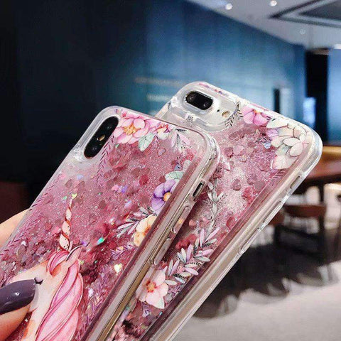 Floral Pattern Cute Horse Heart Fragments Samsung Case gallery 4