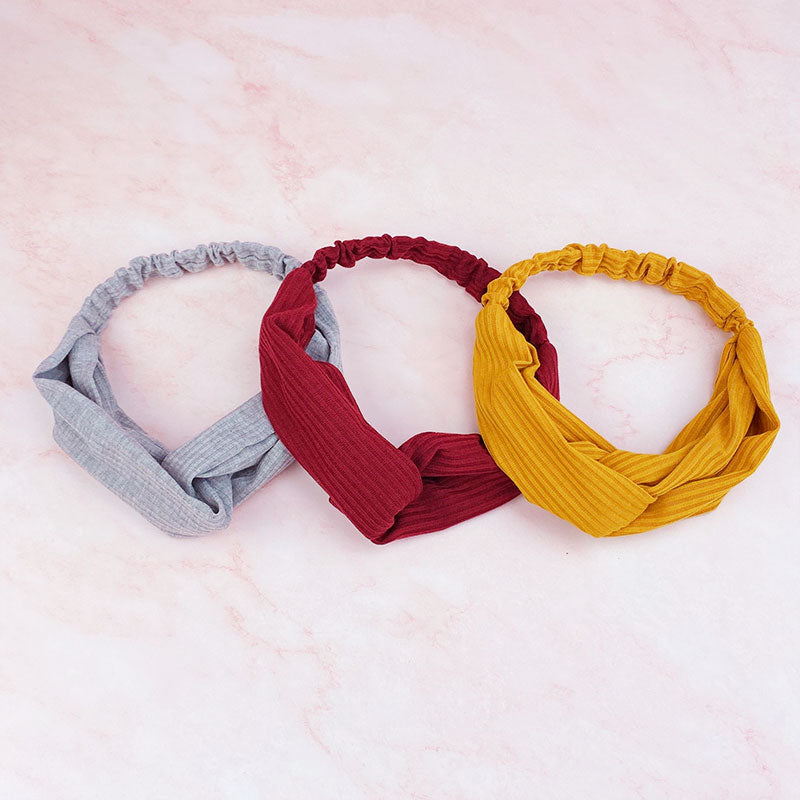 Solid Soft Criss Cross Elastic Headband Wrap