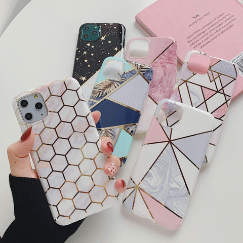 Multicolored Joint Marble Pattern Phone Case for Samsung gallery 4
