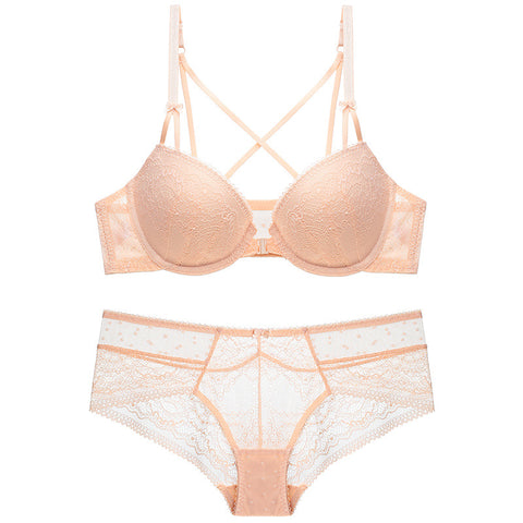 Sexy Front Hasp Beauty Back Bra Panty Lingerie Set