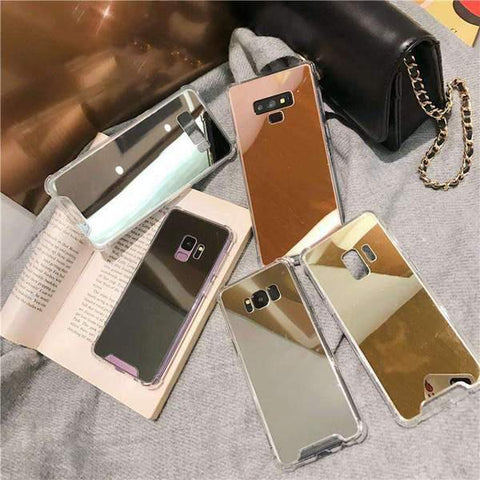 Arcylic Anti-Fall Mirror Phone Case for Samsung gallery 1