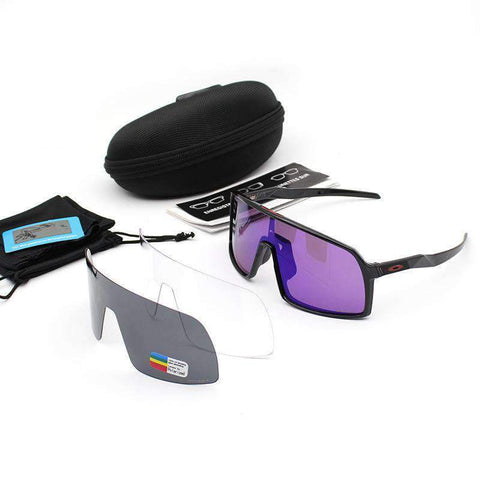 3 Pieces Set Polarized Lens Goggles For Cycling gallery 10