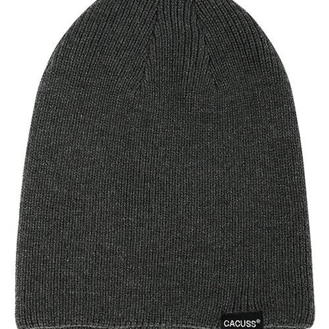 3 Colors Letter Detail Rib Knit Beanie gallery 4