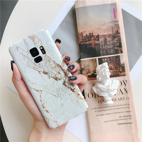 Matte Marble Printed Phone Case For Samsung gallery 4