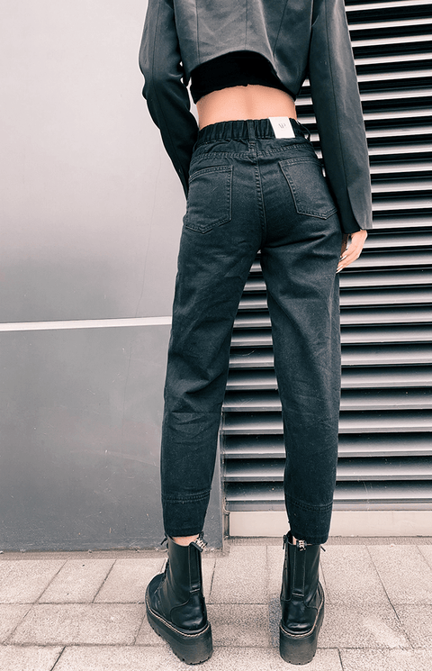 3 Colors High Rise Button Detail Mom Jeans gallery 10