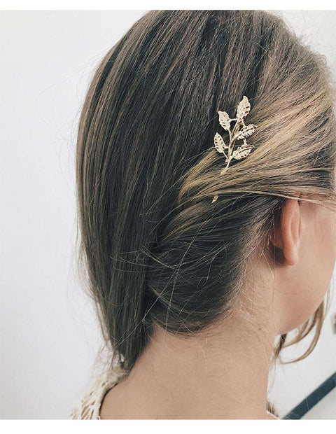 Gold Simple Flower Hair Pin gallery 9