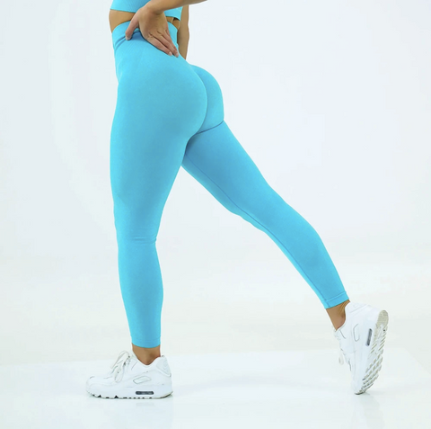 High Waist Butt Lifting Breathable Seamless Workout Leggings gallery 6