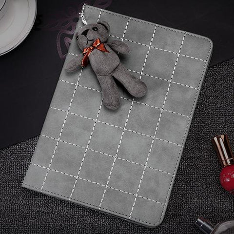 Knitted Grain Foldable iPad Cover Case (Without Furry Bear ) gallery 2
